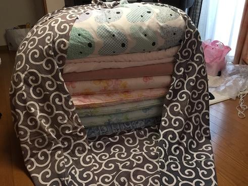 風呂敷と布団