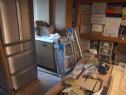 リフォーム中の冷蔵庫